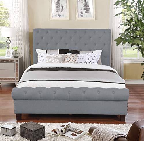 NHI Express 55014-83GY Aidan Bed, Queen, Gray