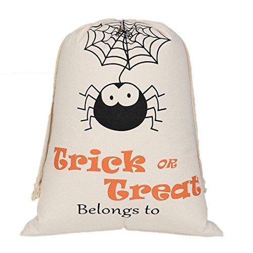 Halloween Candy Bags, Misaky Satchel Rucksack Bundle Pocket Drawstring Storage Bag