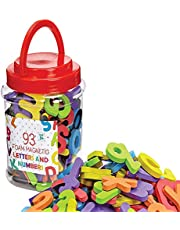 TUIHJA Magnetic Letters and Numbers,ABC Alphabet Magnets in Bucket,Refrigerator Fridge Magnets for Preschool Kids Children Toddler Educational Fridge Refrigerator Toy, Classroom School Learning