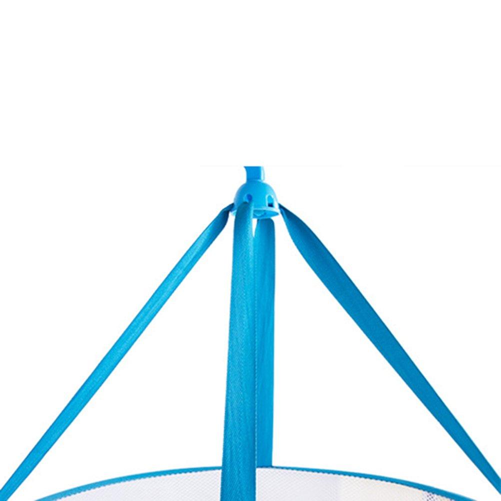 Bleu VORCOOL Pull /à suspendre /à linge pliable en maille filet S/échoir /à linge Panier /à linge Filet de linge