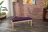 Roundhill Furniture CB171PL Mod Urban Style Solid Wood Button Tufted Fabric Dining Bench, Purple