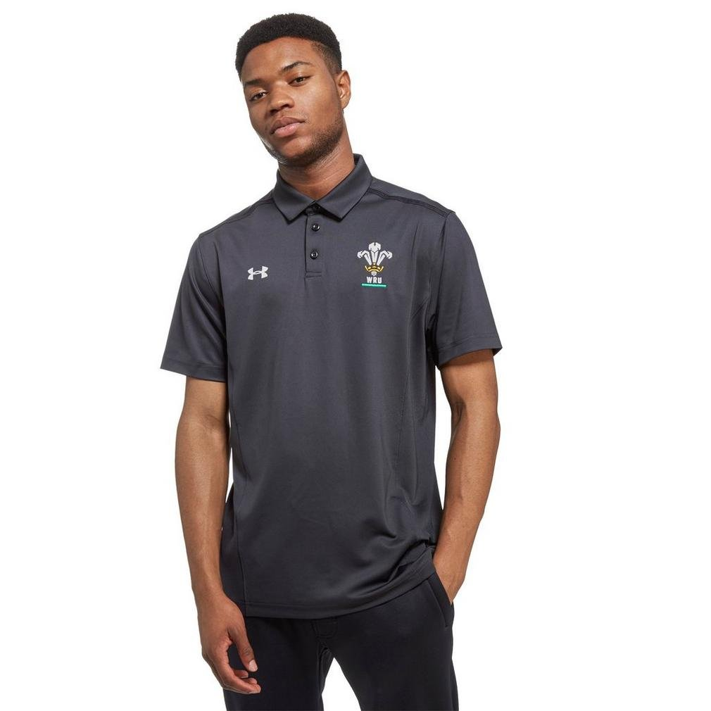 Under Armour 2018-2019 Wales Rugby WRU Team Polo Football Soccer T-Shirt Trikot (Anthracite)