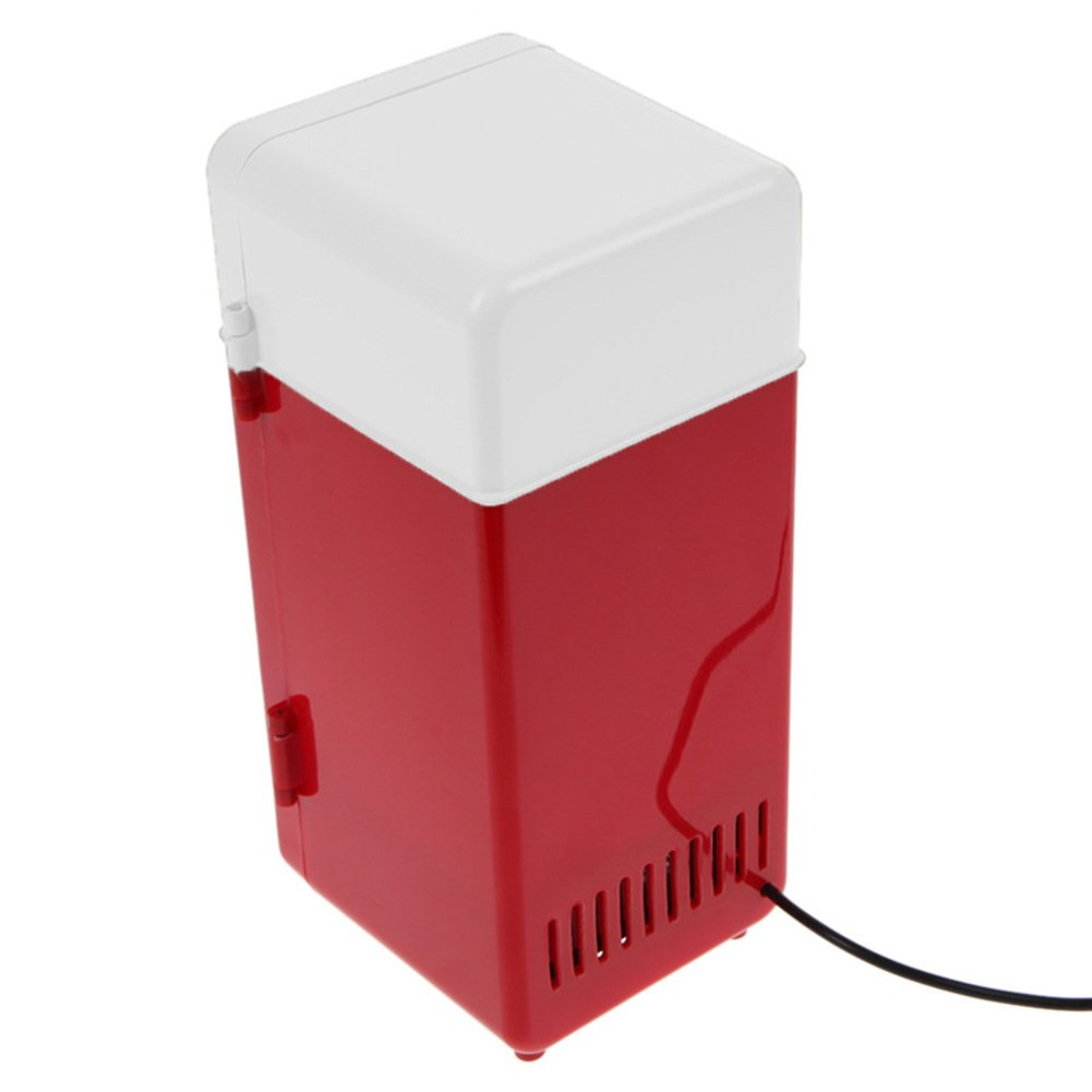 SL&BX Can Beverage Cooler,Mini Fridge Usb Hot And Cold Dual Fridge Portable Mini Compact Refrigerator(Red) by SL&BX (Image #4)
