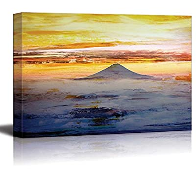 Abstract Mountain at Sunrise Wall Decor