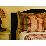 Home Collections by Raghu Chesterfield Check Bedcover Twin Barn Red