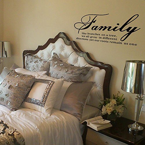 Family branches lettering stickers sayings product image
