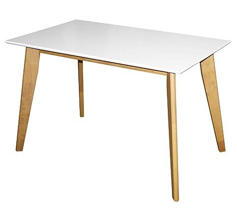 Esstisch 120x70 cm Küchentisch Tisch Weiß Küche Esszimmer ausziehbar auf 160 cm