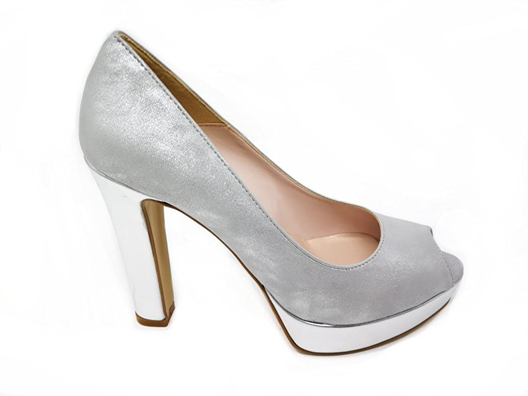 pretty cool where can i buy picked up Kiss Kriss Women's Court Shoes Silver Size: 3.5: Amazon.co ...