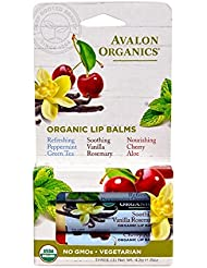 Avalon Organics Organic Lip Balm Trio, 3 Count