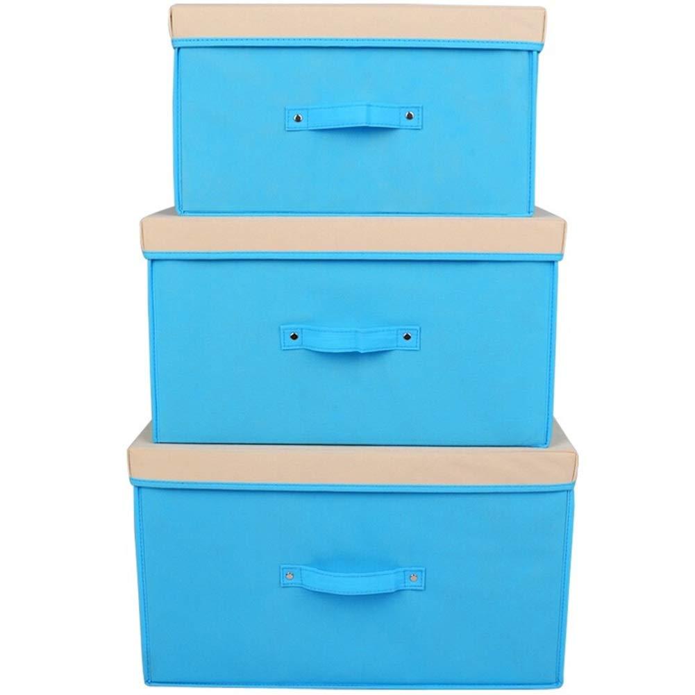 ストレージボックス オモチャ箱 ホームコンテナ キューブボックス ギフトバスケット- シンプルな不織布の大容量折りたたみドット JINRONG (色 : 青, サイズ さいず : 30*40*50cm) B07QS5YV8K 青 30*40*50cm