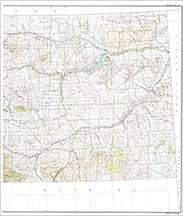 State Of Montana East Half Base Map With Highways And Contours
