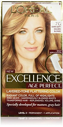 (2 Pack) L'Oreal Paris Hair Color Excellence Age Perfect Layered-Tone Flattering Color Dye (7G) -  638625