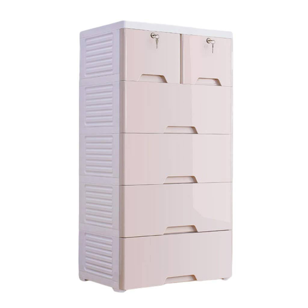 Storage Cabinet Multi-Layer Plastic Clothing Drawer Baby Wardrobe Baby Child Finishing Chest of Drawers ZHAOSHUNLI 1018 (Color : White, Size : 4 Layers) by Storage Cabinet