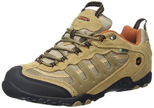Hi-Tec Penrith Low Waterproof, Zapatillas de Senderismo para Hombre Beige (Desert/Burnt Orange 045)