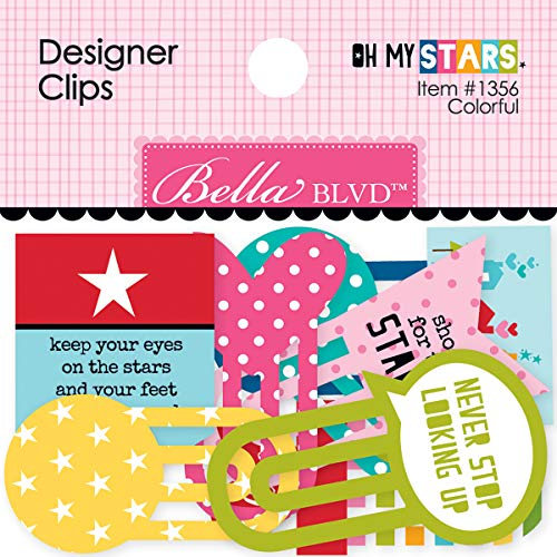 Bella BLVD Oh My Stars Collection Designer Clips Colorful (3 Pack)]()