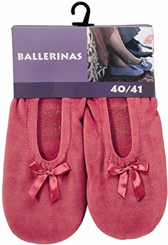 Women's Ballerina Shoes with Real Cowhide Leather Sole Slippers or for Light Sport Pink - Rose