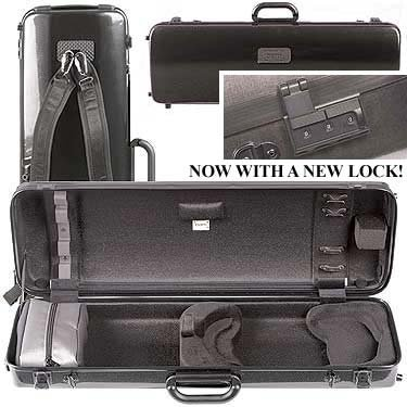 BAM France - Hightech Oblong Violin Case without Music Pocket - Black Carbon - 2001XL