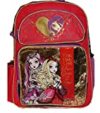 Mattel EVER AFTER HIGH Large Backpack BAG Tote Apple White Raven Queen