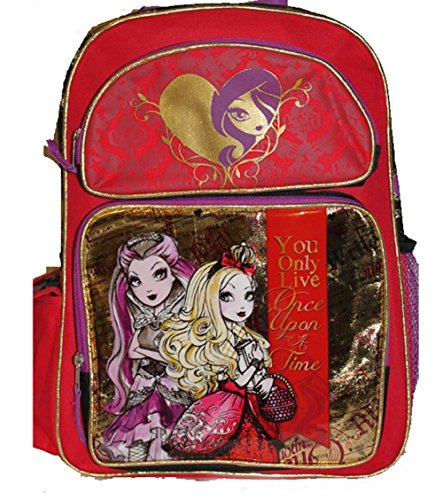 Mattel EVER AFTER HIGH Large Backpack BAG Tote Apple White Raven Queen (The Best Backpack Ever)
