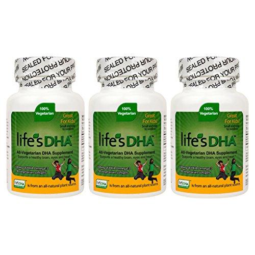 100 Mg Dha (Martek Life's DHA Omega-3 DHA 100mg 90 All-vegetarian Softgels Kids - 3 Count)