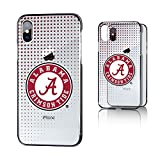 Keyscaper NCAA Alabama Crimson Tide UA Dots Clear Case for iPhone X, Clear