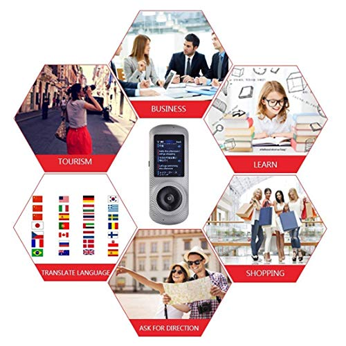 Instant Voice Translator Device Translation 45 Languages Smart 2 Way WiFi 2.4inch IPS Capacitive Touch Screen by Aspiring (Image #5)
