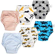 MooMoo Baby Cotton Training Pants Reusable Toddler Potty Training Underwear for Boy and Girl