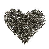 200pcs 2x10mm Bronze Screw Self Tapping Screw Washer Head Screw Self-drilling Screw