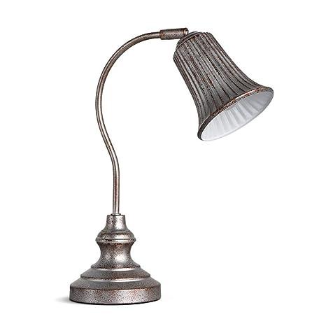 Lámpara de escritorio Loft Cabeza de lámpara ajustable retro ...
