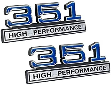 Ford Mustang Blue /& Chrome 5.8 5.8L High Performance 3D Stick On Emblem