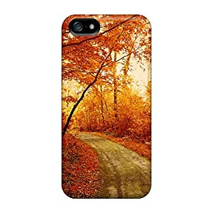 Fashion ToL8086SKht Cases Covers For Iphone 5/5s(autumn Forest Track)