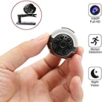 MILALOKO Mini Camera Small Camera 1080P HD Portable Sports Camera with IR Night Vision,Digital Video Photos Camera Supports Motion Detection, Nanny Cam (No TF Card Included)