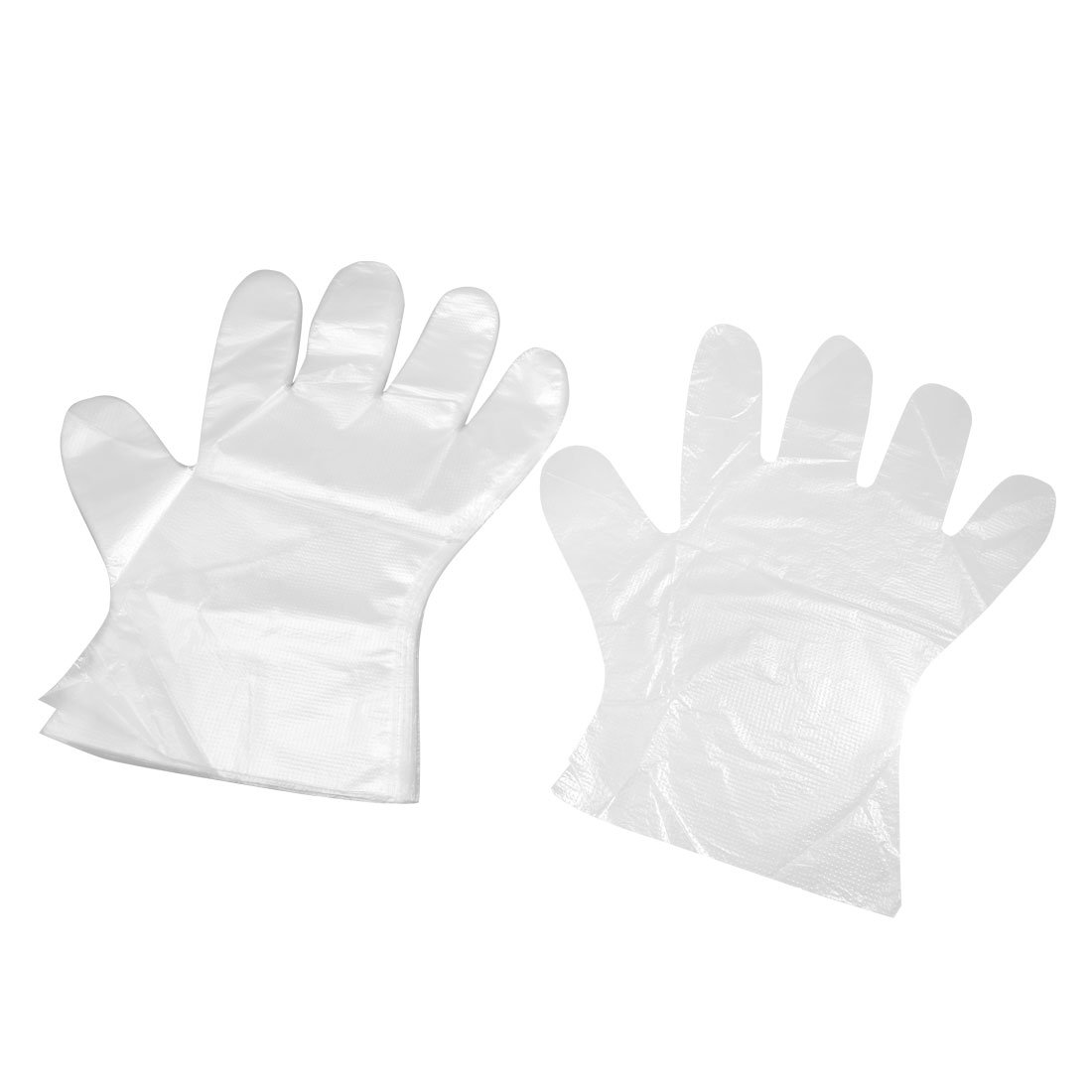 Plastic BBQ Kitchen Cooking Food Disposable Gloves 100 Pcs Clear