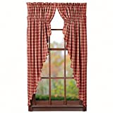 Cheap Nancy's Nook Kendrick Prairie Curtain Set of 2-63x36x18