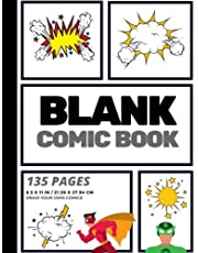 Blank Comic Book: Create Your Own Comic Strip, Blank Comic Panels, 135 Pages, Gray (Large, 8.5 x 11 in.)
