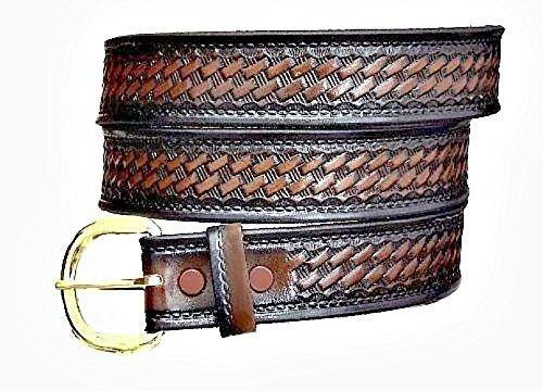 "Genuine heavy duty cow hide solid leather belt handmade 1-3//4/"" wide brand new"