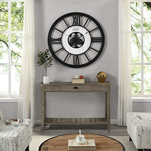 FirsTime Co. Lowell Large Shiplap Farmhouse Clock