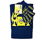 Granny's Best Deals (C) Spongebob SquarePants Blue Winter Scarf,Beanie & Gloves with flames Set-Brand New with Tags!