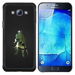 Qstar Arte & diseño plástico duro Fundas Cover Cubre Hard Case Cover para Samsung Galaxy A8 A8000 (Dracónido Warrior - Juegos Skyrm)