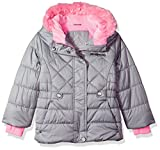 ZeroXposur Little Lexy Jvi Girls Puffer Jacket, Metal, Medium
