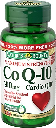 Nature's Bounty Cardio Q10, Co Q-10 400 mg Softgels 39 ea (Pack of 4) by Nature's Bounty