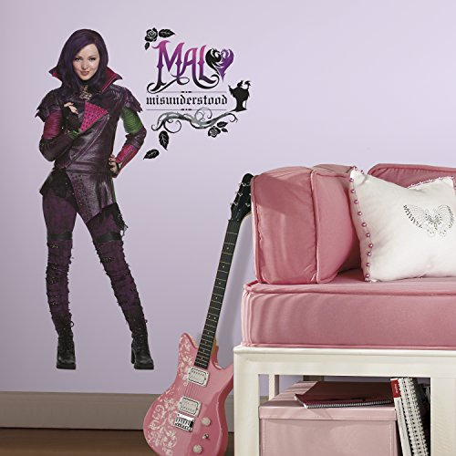 RoomMates Descendants Mal Peel And Stick Giant Wall Decals -