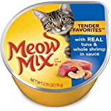Meow Mix Tender Favorites Tuna and Shrimp Wet Cat Food, 2.75 oz (Pack of 12)