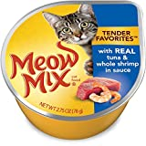 Meow Mix Tender Favorites Tuna And Shrimp Wet Cat Food, 2.75 Oz (Pack Of 12) For Sale