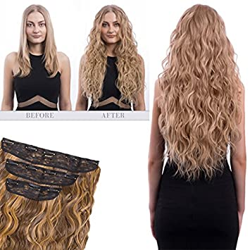 Koko couture thick 3 piece weft beach wave clip in hair extensions Various  colours 5530f4903