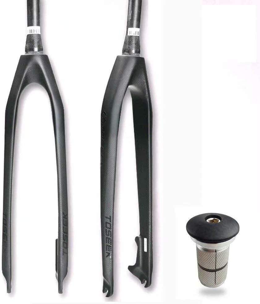 "1-1//8/"" Full Carbon Fiber Mountain Bike Fork Disc Brake Rigid Forks 26//27.5//29er"
