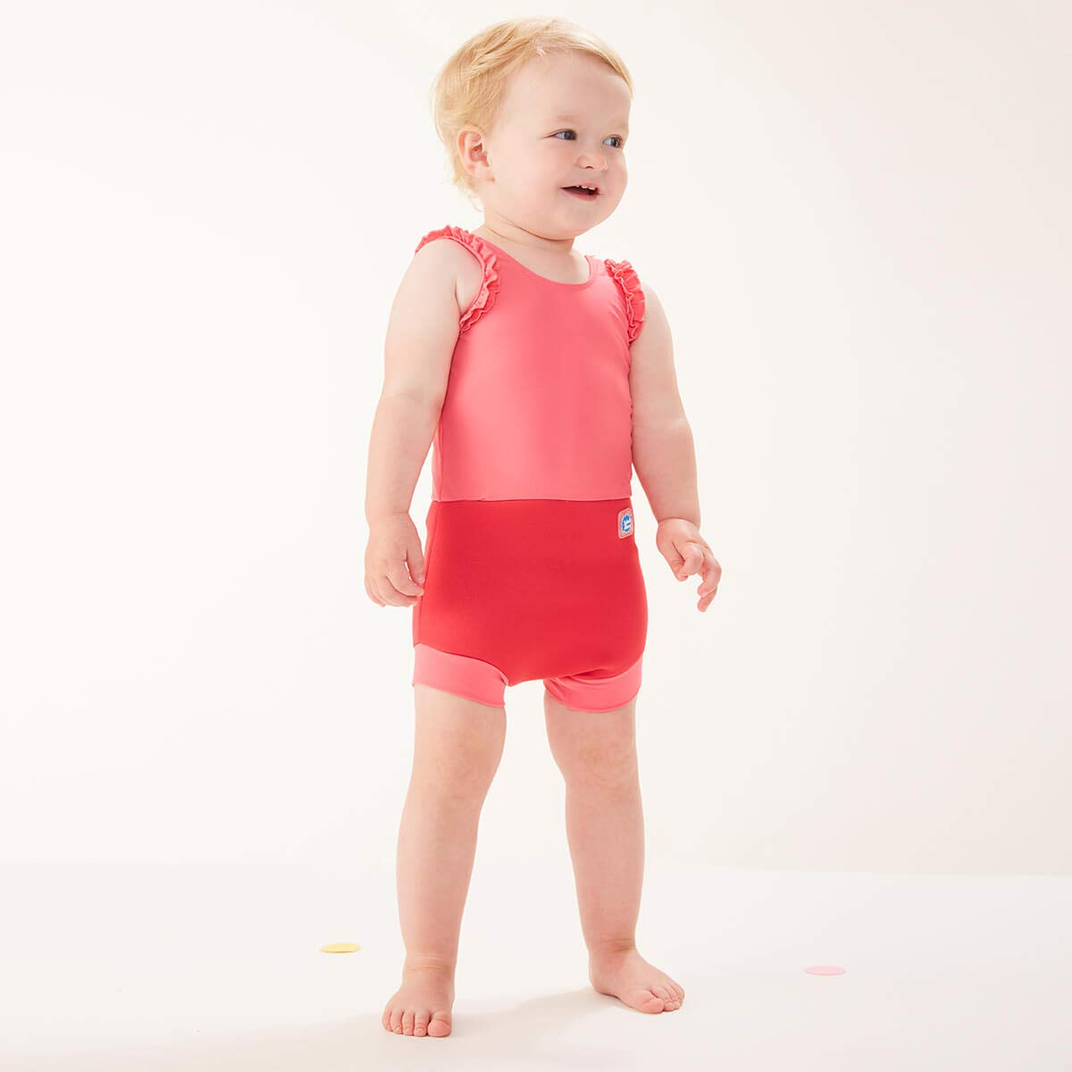 12-24 Months Splash About Baby Happy Nappy Costume Pink Geranium