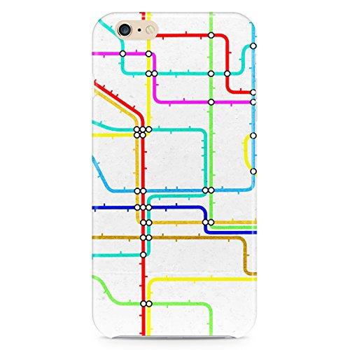 Phone Case For Apple iPhone 6 Plus - London Tube Underground Designer Wrap-Around