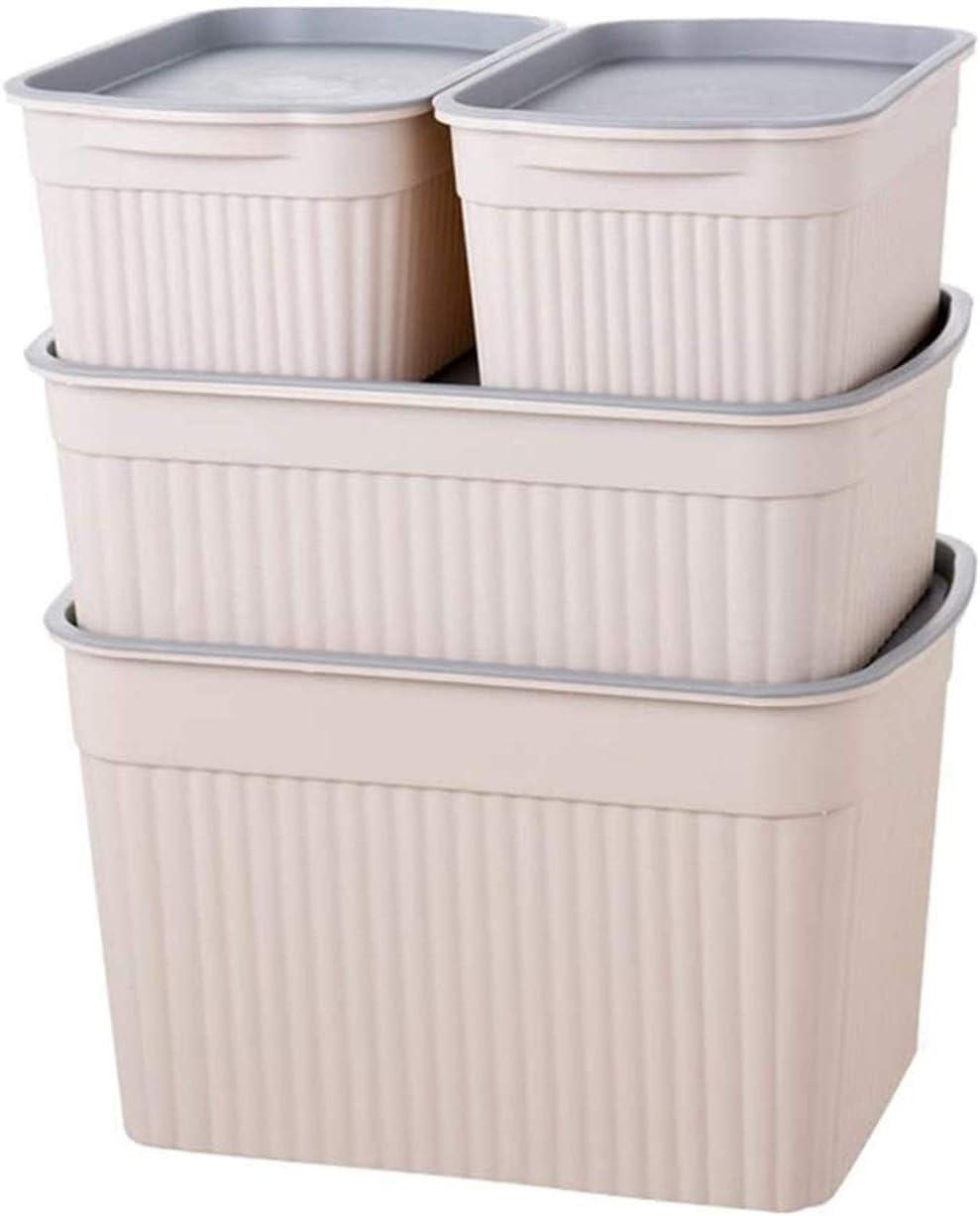 YWAWJ Almacenamiento, caja de plástico con la ropa interior de la cubierta de la caja de almacenamiento de la ropa del edredón de almacenaje de la ropa caja de plástico caja de