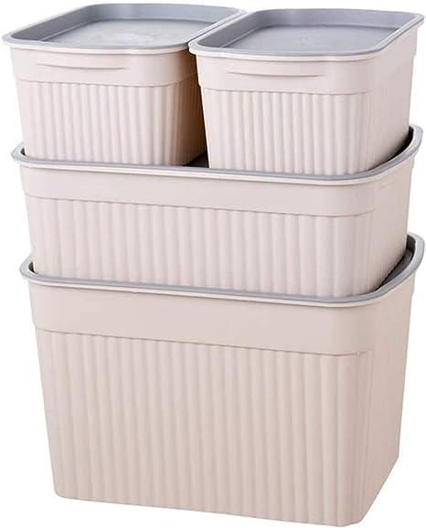YWAWJ Almacenamiento, caja de plástico con la ropa interior de la cubierta de la caja de